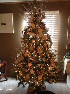 My Pinterest inspired rustic country Christmas tree!!