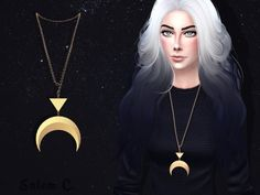 Salem2342: Dance to Your Own Lune Necklace • Sims 4 Downloads