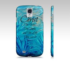 CHRIST The Way The Truth and The Life Samsung by EbiEmporium, $40.00  #God #Bible #Biblical #Holy #Lord #Praise #Inspiration #Proverbs #Scripture #Religious #Christian #God #Ombre #Samsung #Galaxy #GS3 #GS4 Case, #Biblical #Verse #Jesus #Christ #Cell Phone Case #turquoise #blue #pastel