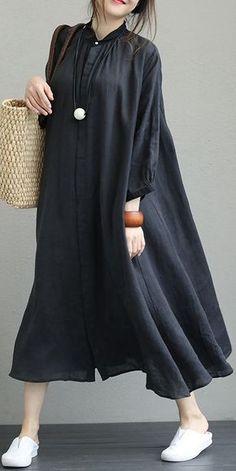 85 Best Casual Dress Ideas for Women to Makes You Look Beautiful - ClothinLine Short Beach Dresses, Trendy Dresses, Casual Dresses For Women, Casual Clothes, Dress Casual, Maxi Dress With Sleeves, Dress Skirt, Linen Dresses, Maxi Dresses