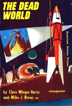 """#15 (Jul 1953) Cover: Stanley Pitt. Contains: """"The Dead World"""" by Clare Winger Harris & Miles J. Breuer, M.D. (novelette from Amazing, Dec 1929), """"My Nephew Norvell"""" by Nelson S. Bond (short story from Blue Book, Jul 1946), and """"The Belt"""" by Wallace West (short story from Science Fiction Quarterly, Nov 1951)"""