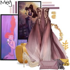 Meg - Formal - Disney's Hercules by rubytyra featuring gold home decor Disney Princess Fashion, Disney Inspired Fashion, Disney Fashion, Fashion 2017, Fashion Trends, Disney Prom, Disney Dress Up, Formal Attire For Women, Formal Outfits