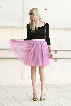 Faldas de tul en *Con B de Boda* http://conbdeboda.blogspot.com.es/2014/03/faldas-de-tul.html
