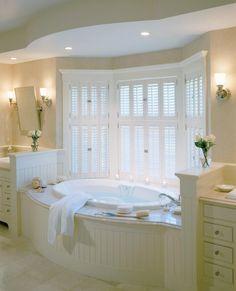 65 Best Ideas For Bathroom Big Window Soaker Tub Bathroom Windows, Bathroom Layout, Bathroom Interior, Bathroom Tubs, Master Bathroom, Bath Window, Bathroom Artwork, Vanity Bathroom, Bathroom Colors