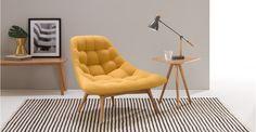 Kolton fauteuil, eigeel | made.com