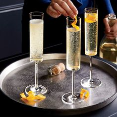 Edge Champagne Glass A tall, cylindrical bowl with a flat base has a dramatic, contemporary look that lends an elegant edge to the enjoyment of bubbly. Kitchen Items, Home Decor Kitchen, Kitchen Utensils, Kitchen Gadgets, Types Of Cocktail Glasses, Types Of Cocktails, Unique Wine Glasses, Antique Pewter, Kitchen Essentials