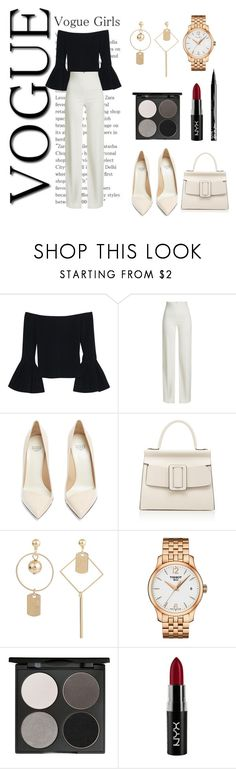 """Off to work"" by rellaxstore ❤ liked on Polyvore featuring Alexis, Brandon Maxwell, Francesco Russo, Boyy, Tissot, Gorgeous Cosmetics and NYX"