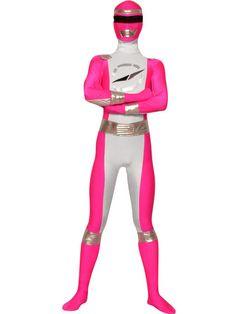 Pink Power Rangers Zentai Suit Halloween Super Hero Costume