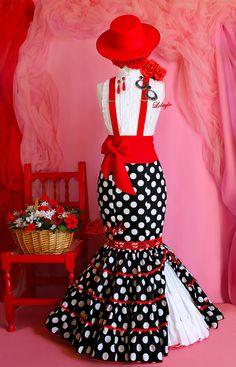 FALDAS, BLUSAS Y TRAJES CAMPEROS – LOLAYLO. TRAJES DE FLAMENCA Y FALDAS DE SEVILLANA. Barbie, Fishtail, Fabric Painting, Dance Dresses, Pin Up, Fashion Dresses, Daughter, Costumes, Womens Fashion