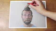 Ballpoint Barber: Stop-motion Hair- and Beard-Cut (Clip)