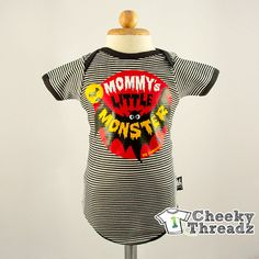 Baby toddler Romper Mommy's little monster Onesie Baby Romper Cool Rock Babies clothes