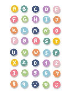 Stickers Kawaii, Pop Stickers, Tumblr Stickers, Printable Stickers, Journal Stickers, Scrapbook Stickers, Planner Stickers, Carta Collage, Alphabet Stickers