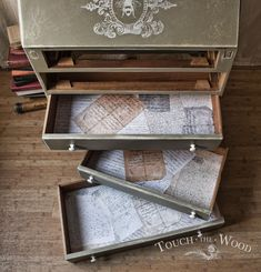 New freebie – three backgrounds of Old Vintage Paper Letters. As we promised before, we want to share with you background images we have used to line drawer bottoms in our Antique Shabby Chic Bureau no. 12. As before with Vintage Butterflies Background, these ones are not photomanipulated, they are actual photos of each drawer. …