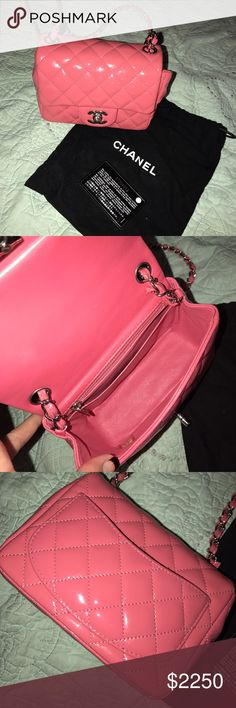 Chanel Mini Flap Patent Leather Very Good Condition, Comes with Dustbag and Authenticity Card CHANEL Bags Crossbody Bags