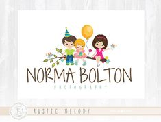 Children Logo Design Party Logo Childcare  Logo Bird Logo  Boutique Logo Kids Logo Watermark Photography Logo