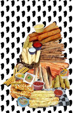 Formalist Breadstick Collage