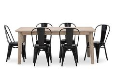 Portland 7 Piece Dining Suite with Rocket Dining Chairs | Super A-Mart