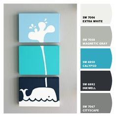 Bedroom Paint Color Ideas..love these colors for a boys room!!!