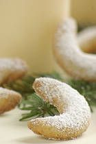 Vanilla Crescent Cookies / rohlicky Cookies:    This recipe for Czech vanilla crescents or vanilkove rohlicky is popular year-round, but especially at Christmas time