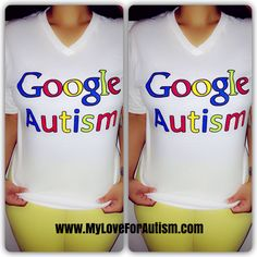 Google Autism V-Neck Shirts are now available exclusively at www.MyLoveForAutism.com for a limited time only. ** This Autism Awareness shirt is to raise Awareness for Autism. #1in68 How Aware Are You ⁉️    #GoogleAutism #Aspergers #AutismAwareness #1in68 #Educate #Support #MyLoveForAutism❤️