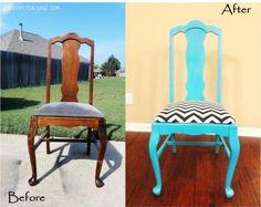 * Decoração e Invenção *: Muitas cadeiras , Antes e depois