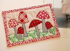 Mug Rug 'Shrooms by RhubarbPatch, via Flickr