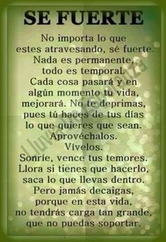 Gods Love Quotes, Love Yourself Quotes, Words Quotes, Me Quotes, Vie Positive, Positive Phrases, Motivational Phrases, Spanish Inspirational Quotes, Spanish Quotes
