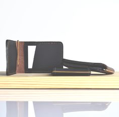 Beautiful leather card slips - 100% locally made - colours: choc. brown, black or tan - R325 - www.tidyandco.com/product/card-slip
