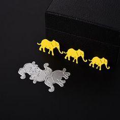 cute animals elephants scrapbooking Carbon Metal steel Stencil cutting die H Scrapbook Paper Crafts, Scrapbooking, Album Photo, Bat Signal, Die Cutting, Superhero Logos, Stencils, Cute Animals, Elephant