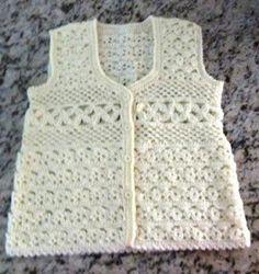 Ateliê Rosi Comti: Colete de Crochê Wilma, Crochet sampler-style vest