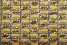 Ecru Men's print cotton