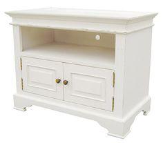 Kristina White Painted Distressed 2 Door TV Cabinet
