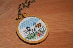 Cross stitch necklace