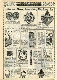 1938 Advertisement 6 Page Halloween Horns Noisemaker Decorations Lantern CAT | eBay