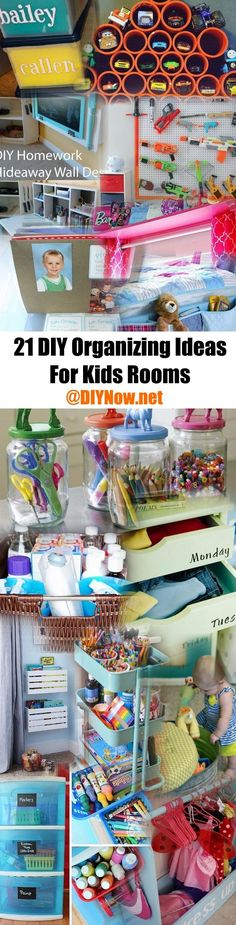 21 DIY Organizing Ideas For Kids Rooms