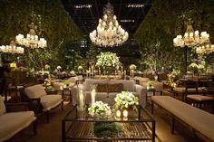 Decoração maravilhosa em branco e verde #wedding #casamento