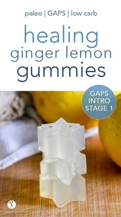 Healing Ginger Lemon Gummies are a fun way to nourish kids and parents alike! With only a few simple ingredients, they're safe for paleo and GAPS diets. #guthealth #healing #ginger #lemon #gummies #fruitsnacks #gapsintro #gapsdiet #paleo #lowcarb