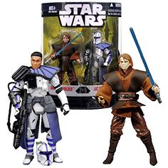 "Hasbro Year 2007 Star Wars ""Order 66"" Exclusive Series 2 Pack 4 Inch Tall Action Figure Set #2 - ANAKIN SKYWALKER with Blue Lightsaber Plus ARC TROOPER with Removable Helmet and Blaster Rifle Star Wars http://www.amazon.com/dp/B00L62O6LK/ref=cm_sw_r_pi_dp_nhnLub12799Q4"