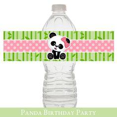 Panda Water Wrapper Baby Shower Panda Baby par SugarPickleParty