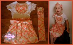 Peaches Shabby Chic Three Piece Millie Skirt and by stewiecakes, $40.00