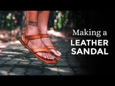 Making Leather Sandals / Teva Original Sandals inspired ⧼Week 36/52⧽ - YouTube