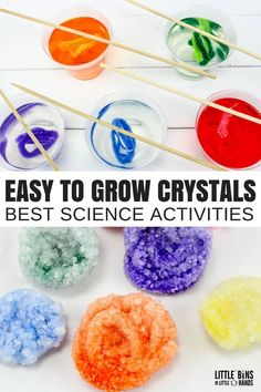 Want to know how to grow crystals with borax fast? Learn how to grow borax crystals overnight for kids science projects any rockhound will love. Grow Your Own Crystals, Growing Crystals, How To Make Crystals, 4th Grade Science Projects, Science Activities For Kids, Preschool Science, Science Centers, Stem Projects, Science Classroom