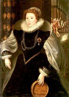 Elisabeth 1st with a sleeve, symbol of virginity