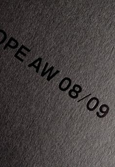 Hope AW08 Fashion catalogue by Edwin van Gelder from MainStudio  _