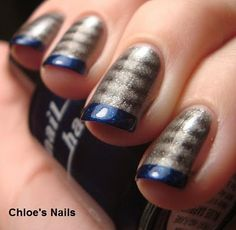 Chloe's Nails: Steel Me French Tips!!!!