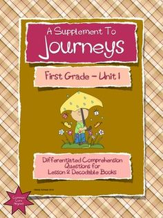 Journeys differentiated spelling lists for first grade journeys this packet contains differentiated questions for the decodable books in lesson 2 of the houghton mifflin harcourt journeys first grade reading series fandeluxe Image collections