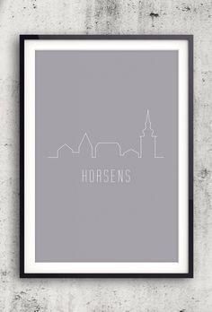 Byplakat - Horsens i lys - 50x70