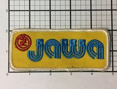 Vintage 1970s Jawa CZ patch never sold and stored away by RatsHole
