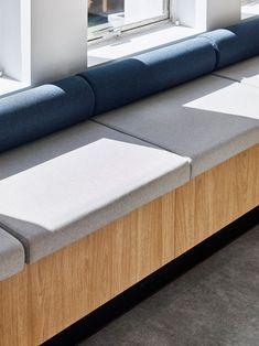 The Cove Coworking Office by Collectivus - Office Snapshots Australian Interior Design, Interior Design Awards, Modern Interior Design, Booth Seating, Banquette Seating, Built In Seating, Built In Bench, Sofa Design, Furniture Design