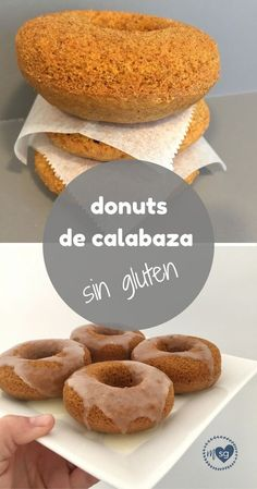 Donuts de calabaza sin gluten Baked gluten-free pumpkin donuts are a delicious recipe with spices such as cinnamon or cloves. Gluten Free Cakes, Gluten Free Desserts, Healthy Desserts, Gluten Free Recipes, Donut Recipes, Mexican Food Recipes, Sweet Recipes, Dessert Recipes, Calabaza Recipe